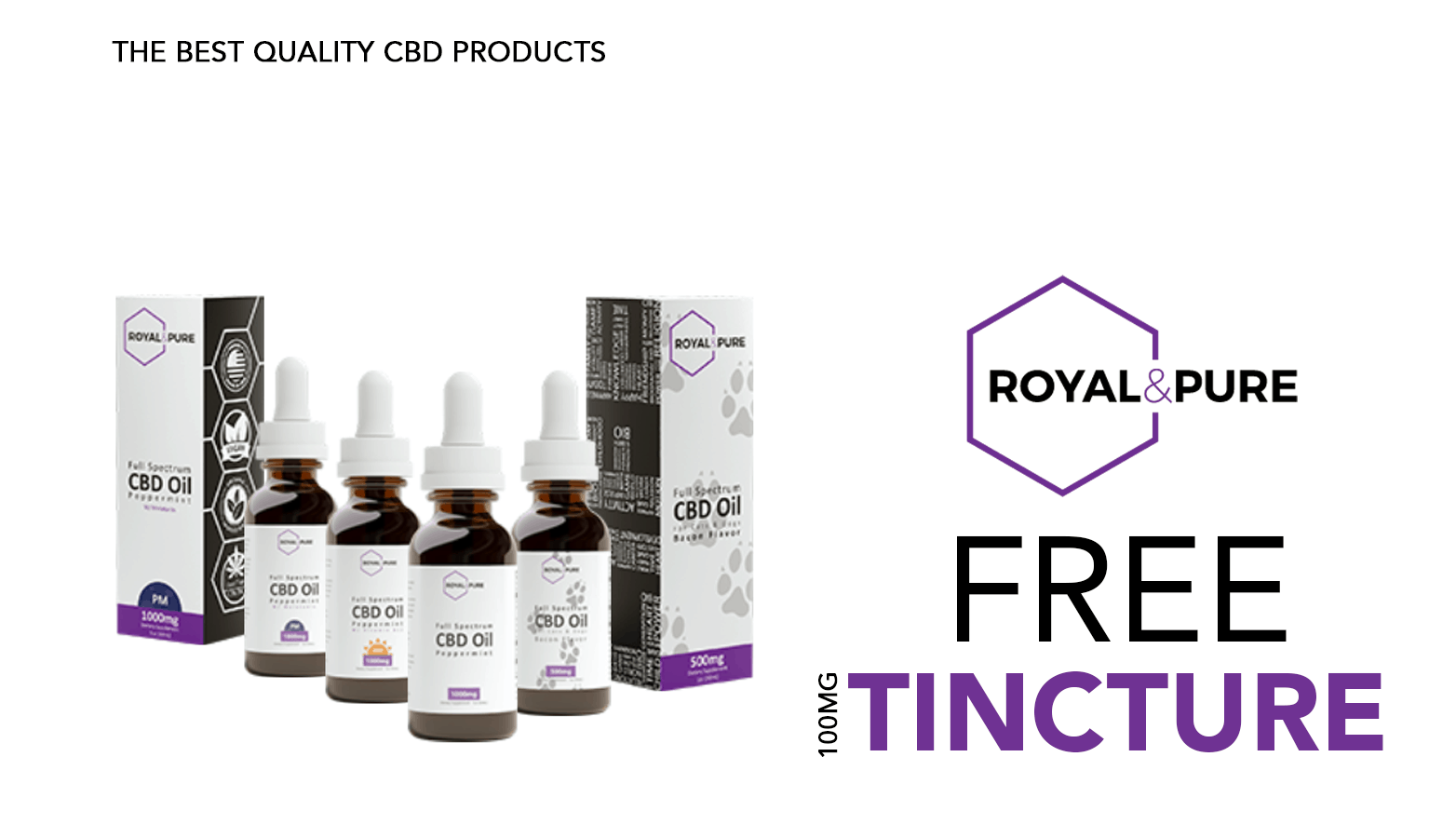 Royal & Pure CBD Coupons Free Tinctures