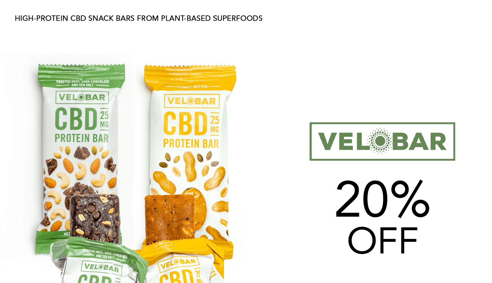 Velobar CBD Coupon Code 20 Percent Off Website