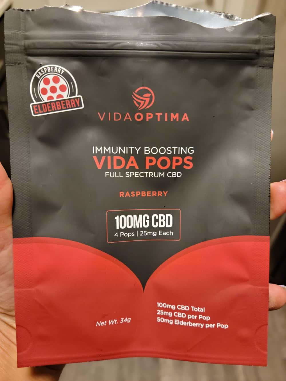 Vida Optima Immunity Boosting Vida Pops Raspberry Save On Cannabis Review Beauty Shot