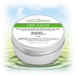 CBD2HEAL Cannabis Coupons 2000 mg Salve