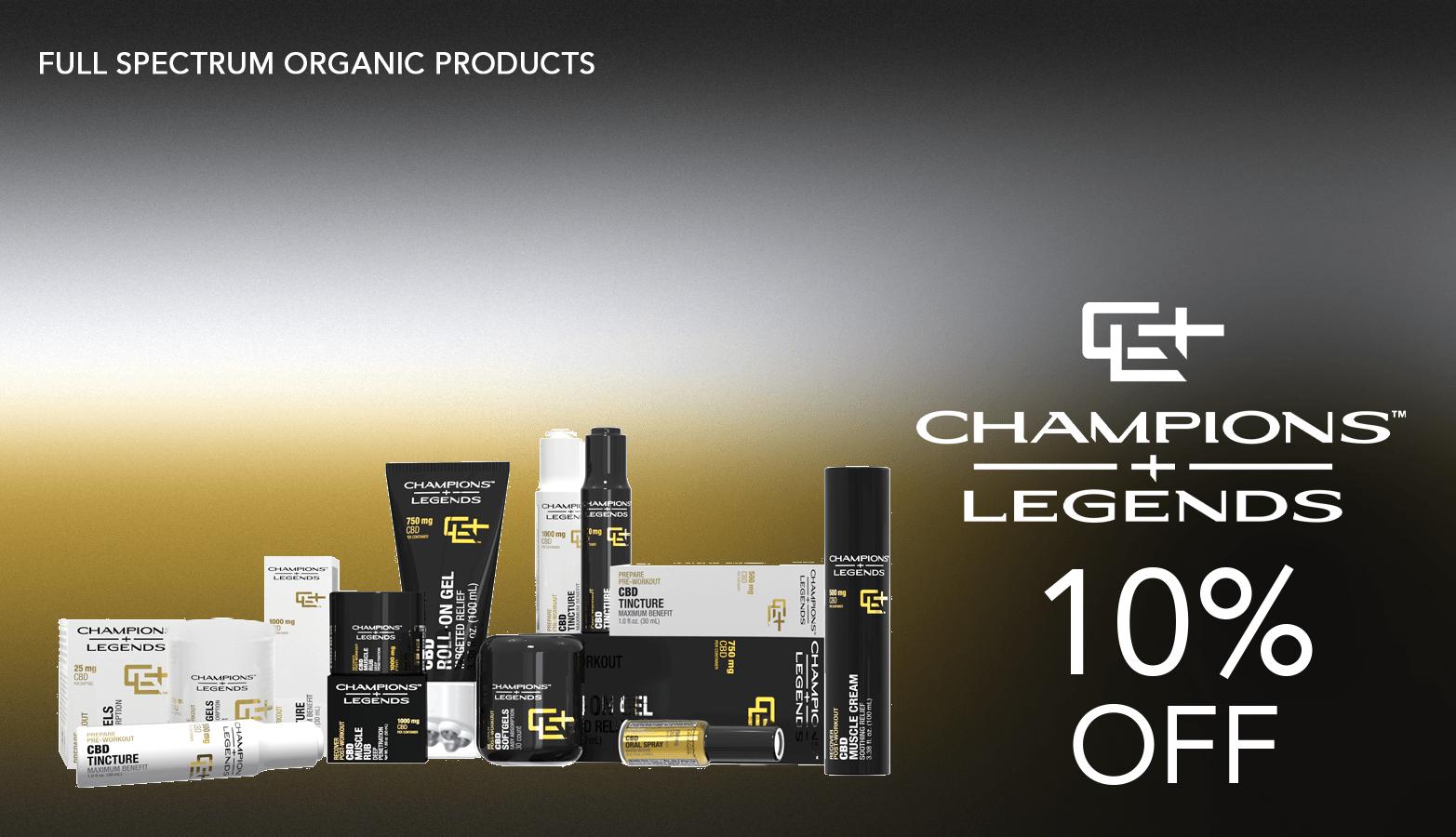 Champions Legends CBD Coupon Code Offer Website