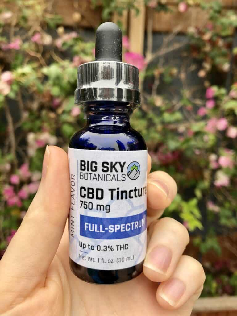 big sky botanicals full spectrum CBD review save on cannabis tincture mint review
