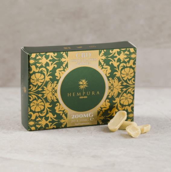 Hempura CBD Coupon Code  Hempura 200mg Refined Extract CBD White Chocolates