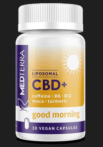 Medterra CBD Coupon Code Good Morning Liposomal CBD Turmeric Ginger Ashwagandha Maca