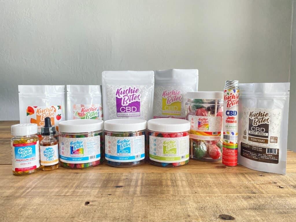 Kushie Bites Product Lineup