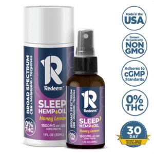 Redeem Therapeutics CBD Coupon Broad Spectrum CBD Oil Spray Sleep Formula