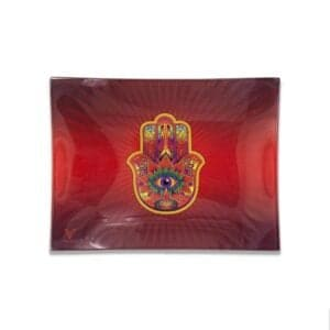 V Syndicate CBD Coupon Code Store Hamsa Red Glass Rollin Tray