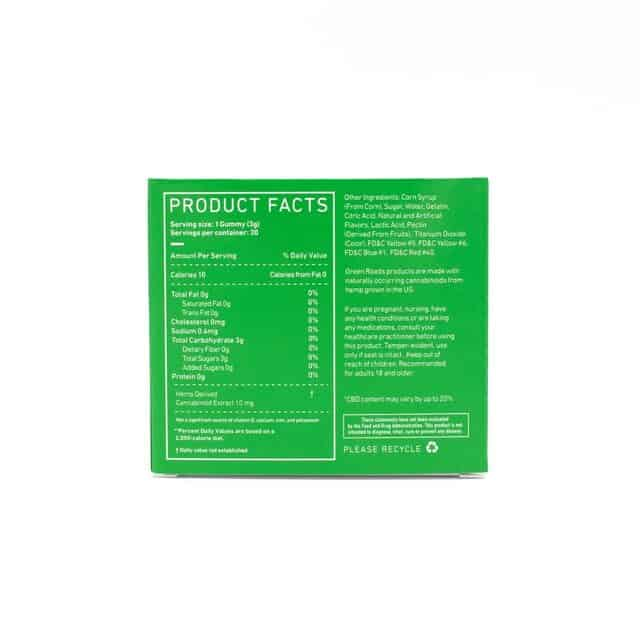 Green Roads CBD Relax Bears - Product Facts