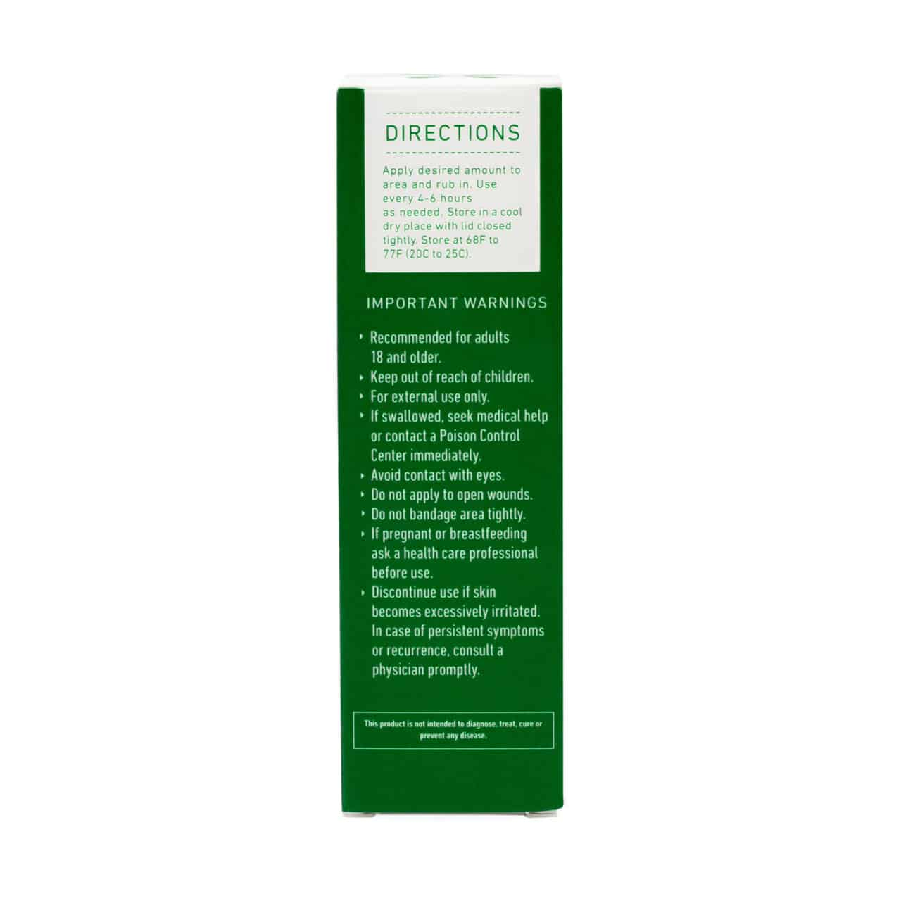Green Roads Muscle & Joint Relief CBD Cream - Usage Directions